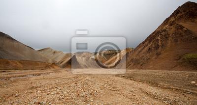 Naklejka Paesaggio w Islanda, deserto di Pietre e Sassi
