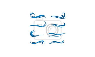 pakiet szablonów wody
