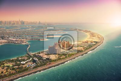Naklejka Palmowa wyspa w Dubaj, widok z lotu ptaka