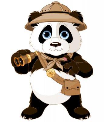 Naklejka Panda Safari Explorer