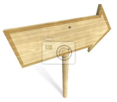 Panneau de bois sur fond blanc 4