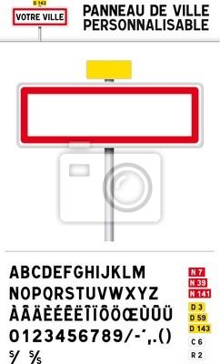 Panneau de ville personnalisable