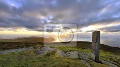 Naklejka Panorama - na południe od Wyspy Man z Celtic Cross