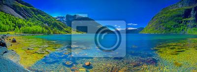 Naklejka Panorama norweskich fiordów