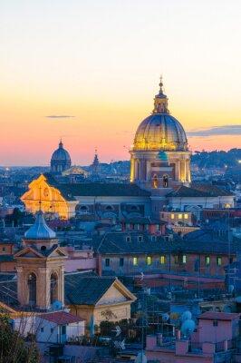 Naklejka Panorama Roma da Villa Borghese