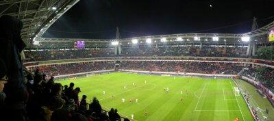 Naklejka panorama stadionu piłkarskiego