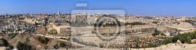Naklejka Panorama Starego Miasta w Jerozolimie