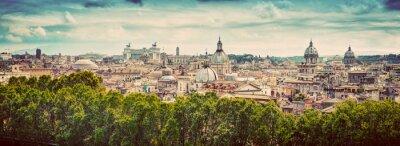 Naklejka Panorama starożytnego miasta Rzym, Włochy. Zabytkowe