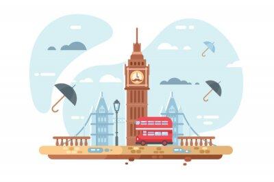 Naklejka Panoramę miasta Londyn