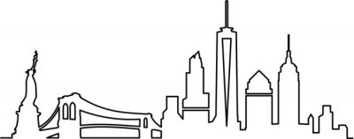 Naklejka Panoramę Nowego Jorku
