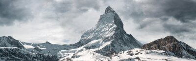 Naklejka panoramic view to the majestic Matterhorn mountain, Valais, Switzerland
