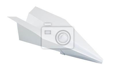 Naklejka papierowy samolocik