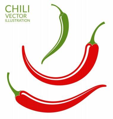 Naklejka Papryczka Chili