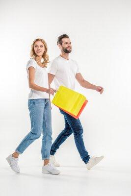 Para spaceru z torby na zakupy