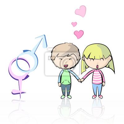 Para zakochanych. Ilustracji wektorowych.