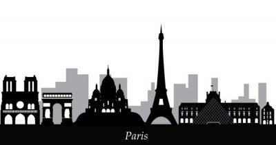 Naklejka Paris skyline