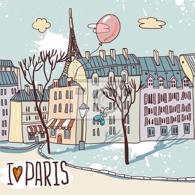 paris urban szkic