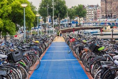 Naklejka Parking dla rowerów w Amsterdamie