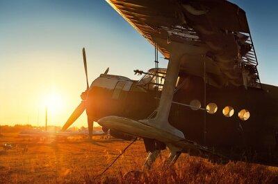 Naklejka Parking retro samolotu