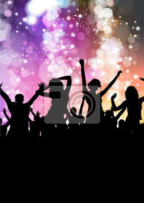 Naklejka Party template noc