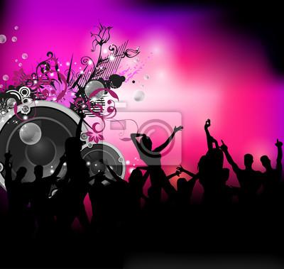 Party z tło dźwięk tańczących ludzi