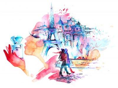 Naklejka Paryż