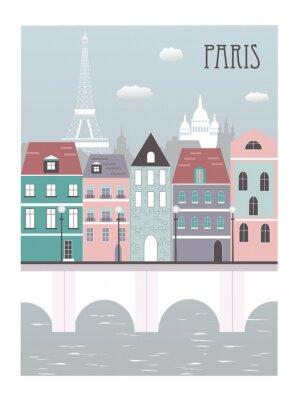 Naklejka Paryż miasto.