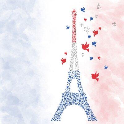 Naklejka Paryż Wieża Eiffla