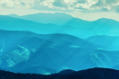 Naklejka Pasmo górskie w lecie