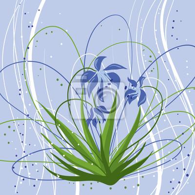 Pastelowe tła z niebieskim rozlegle. Ilustracji wektorowych.
