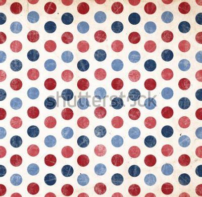 Naklejka Patriotyczne tło - czerwone i niebieskie kropki