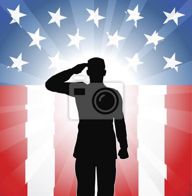 Patriotyzm salute żołnierz