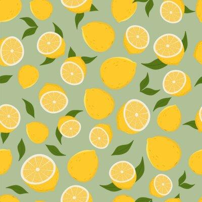Naklejka Pattern of lemons.