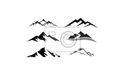 Naklejka peak logo mountain icon