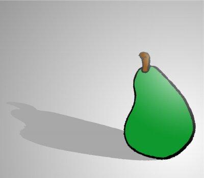 Naklejka pear draw