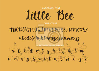 Pędzlem malowane litery.