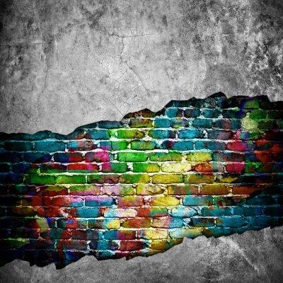 Naklejka pęknięty mur