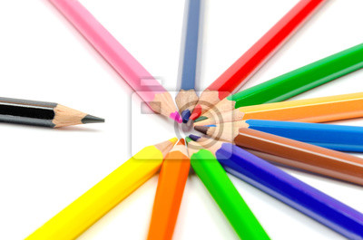 Naklejka pencils2 kolor