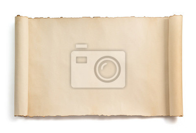 Naklejka pergamin przewiń wyizolowanych na białym tle