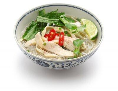 Naklejka pho ga, wietnamski ryż z kurczaka zupa z makaronem