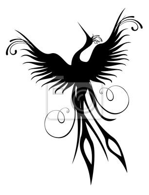 Naklejka Phoenix bird figure isolated