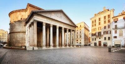Naklejka Piazza della Rotonda e il Pantheon, Roma