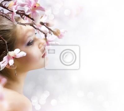 Piękna Dziewczyna z kwiatem
