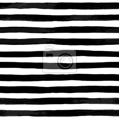Piękne bez szwu deseń z paski akwarela czarno-biała