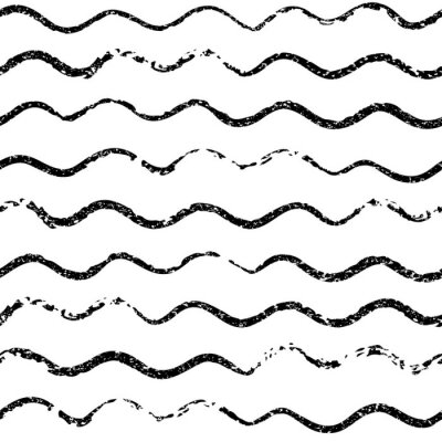 Piękne bez szwu deseń z pociągnięciem pędzlem faliste. Czarno-białe tło monochromatyczne. Ozdobny nadruk na koszulki. Ozdoba na papier pakowy