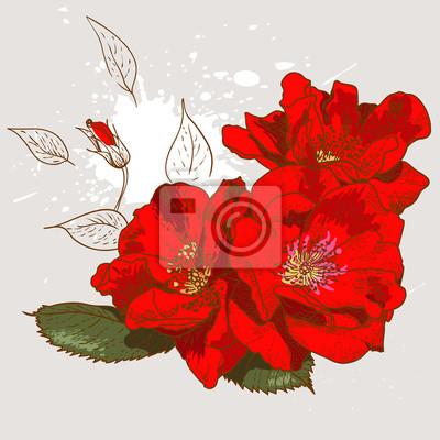 Piękne bez szwu kwiatowy wzór