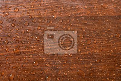 Piękne drewniane tła z kropli wody.