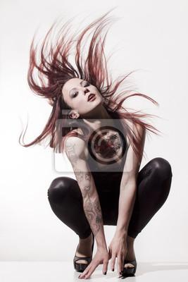 Naklejka Piękne dziewczyny z tatuażami