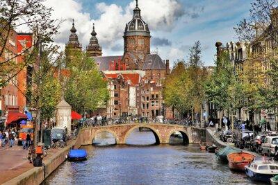 Naklejka piękne Kanały Amsterdam