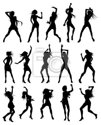 Piękne kobiety tańczące sylwetki